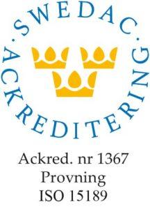 Symbol som visar Swedac Ackreditering