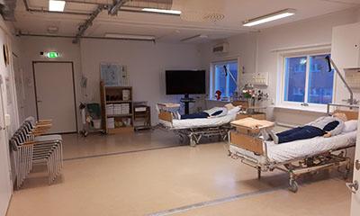 Rum som visar vårdsal.