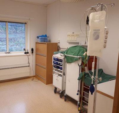 Rum med sjukvårdsutrustning
