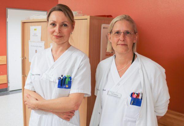 Pia Gjelstrup och Lena Winblad, arbetsledande chefer.