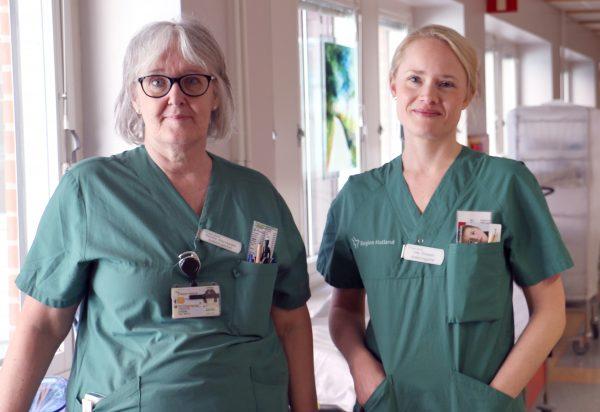 Gunilla Sternheden och Lisa Ottosson, avdelningschefer på intensivvårdsavdelningen i Halmstad.